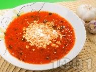 Вкусна супа от печени чушки